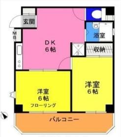 JOY・K・I3階Fの間取り画像