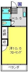 カトウハイム1階Fの間取り画像