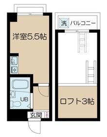 荏原中延駅 徒歩8分2階Fの間取り画像