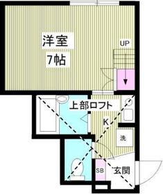 comfort桜ヶ丘1階Fの間取り画像