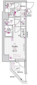 ガーラ横濱関内グランドステージ3階Fの間取り画像