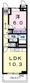 アルバ Ⅰ2階Fの間取り画像