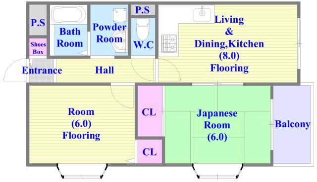 ヴェルドミール舎利寺 セパレートで和室もありファミリータイプにはおススメの間取です。