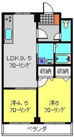 マリナーズプラザ東蒔田4階Fの間取り画像