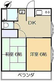 豊島コーポ1階Fの間取り画像
