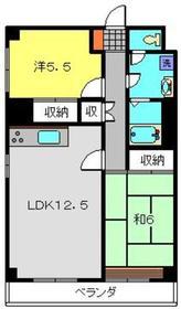 メゾンデ寺田2階Fの間取り画像