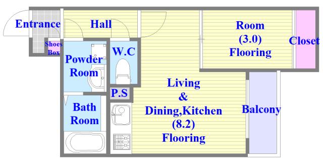 ラージヒル長瀬WEST 新築物件。人気のセパレート・広めの間取です。