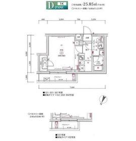 富士見台駅 徒歩5分1階Fの間取り画像