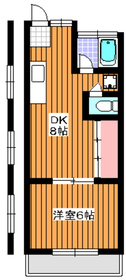 旭マンション3階Fの間取り画像