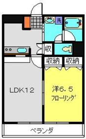 パークヒル1階Fの間取り画像