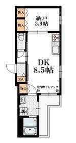 メゾン クレール2階Fの間取り画像