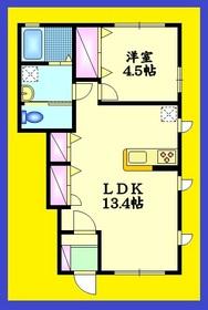 Heim Nukui1階Fの間取り画像