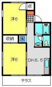 ソレイユ鶴ヶ峰1階Fの間取り画像