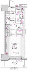 ガーラ・グランディ横浜鶴見6階Fの間取り画像