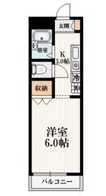 メゾンSINO2階Fの間取り画像