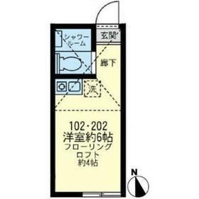 上星川駅 徒歩12分2階Fの間取り画像