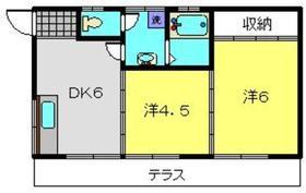 新川コーポ1階Fの間取り画像