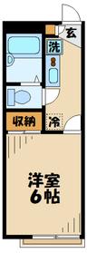 レオパレスプランドール1階Fの間取り画像