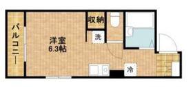 三ツ井ビルディング3階Fの間取り画像