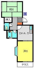 エイトハイム南太田2階Fの間取り画像
