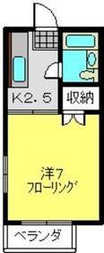 元住吉駅 徒歩17分1階Fの間取り画像
