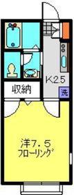スプリングス日吉mkⅡ1階Fの間取り画像