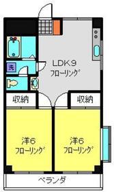 第2藤ハウス2階Fの間取り画像