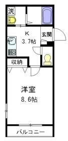 ヴァンベールY2階Fの間取り画像