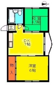 中島マンション4階Fの間取り画像