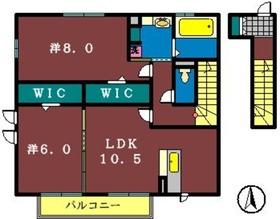 レグルス・K2階Fの間取り画像