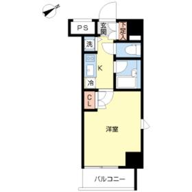 スカイコート品川大崎8階Fの間取り画像