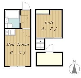 エンタープライズパートⅠ2階Fの間取り画像