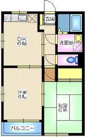 シェルム戸塚C1階Fの間取り画像