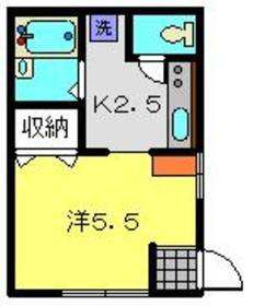 ボーセジュール2階Fの間取り画像