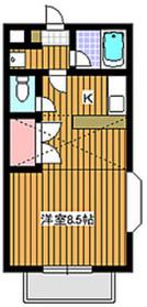 平和台駅 徒歩23分1階Fの間取り画像