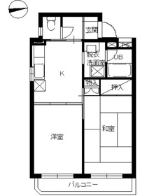 スカイコート横浜南太田4階Fの間取り画像