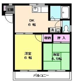 水宮ハイム3階Fの間取り画像