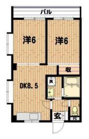 川口ビル2階Fの間取り画像