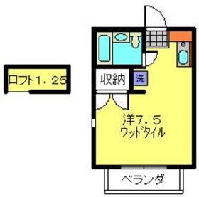 保土ヶ谷駅 徒歩10分2階Fの間取り画像
