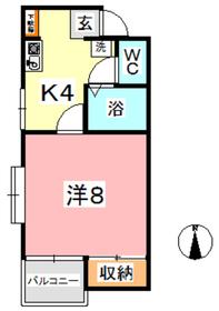DWellフォルテ A2階Fの間取り画像