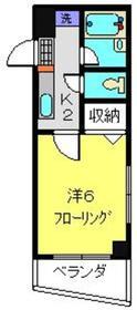 元住吉駅 徒歩3分4階Fの間取り画像