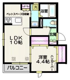 仮称 大戸4丁目メゾン ペット共生3階Fの間取り画像