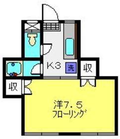 パヴェ・ヴェルデュール2階Fの間取り画像