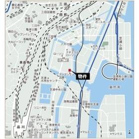 品川駅 徒歩22分案内図