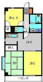新堀マンション赤坂4階Fの間取り画像