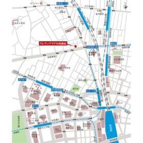 クレヴィアリグゼ西新宿案内図