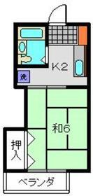 ハイツホリウチ2階Fの間取り画像