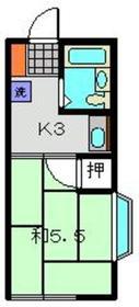 メゾンアサヒ1階Fの間取り画像
