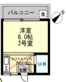宿河原駅 徒歩21分2階Fの間取り画像