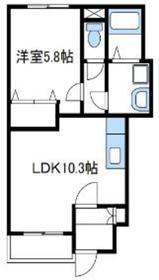 ベルストリーム1階Fの間取り画像